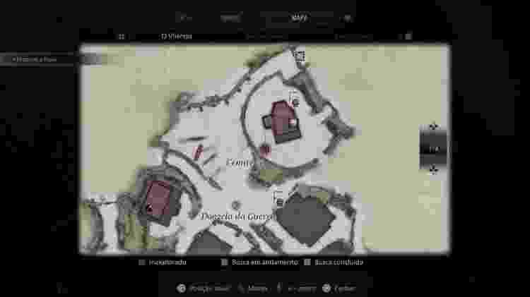 Resident Evil Village Mapa Cabra 2 - Reprodução/Capcom - Reprodução/Capcom