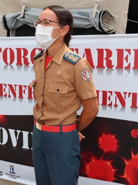 A tenente-coronel Maria Souza, 46, coordenou operação de resgate no incêndio em ala de covid de hospital de Aracaju (SE) - Arquivo pessoal