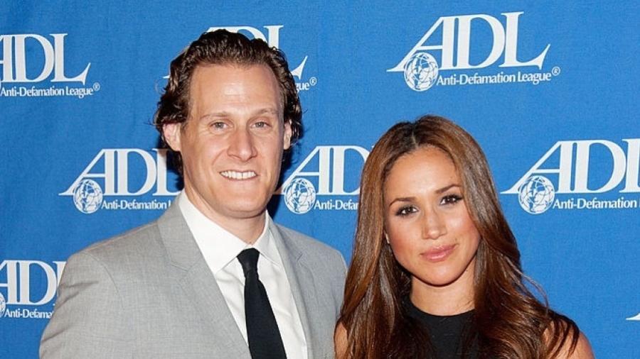 Trevor Engelson e Meghan Markle em 2011, ano em que se casaram; atriz devolveu aliança no término -  Amanda Edwards/Getty Images