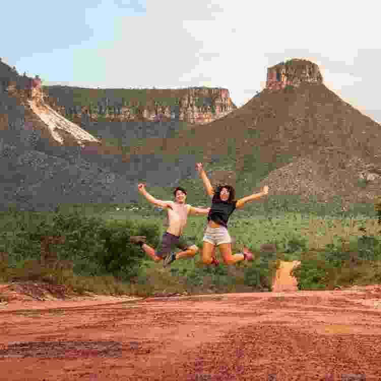 Registro do casal durante uma de suas viagens pelo Brasil - Arquivo Pessoal - Arquivo Pessoal