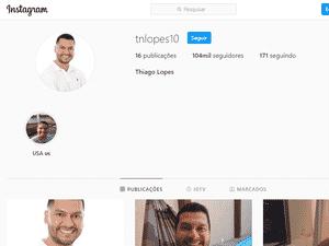 Thiago Lopes apagou mais de 80 fotos de seu Instagram - Reprodução/Instagram - Reprodução/Instagram