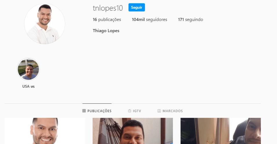 Thiago Lopes apagou mais de 80 fotos de seu Instagram
