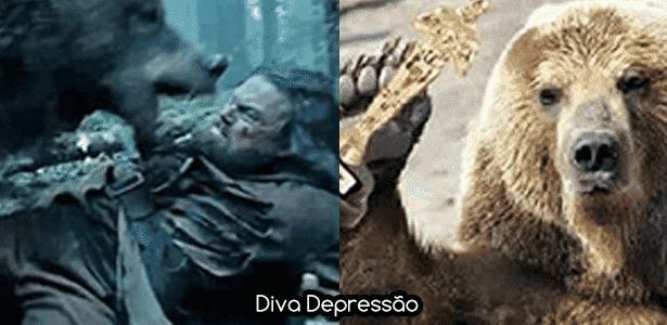 Diva - DiCaprio urso - Montagem/Diva Depressão - Montagem/Diva Depressão