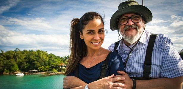 "Giovanna Antonelli (Alice) e Luis Melo (Kazuo Tanaka) em ""Sol Nascente"" - João Miguel Júnior/TV Globo"