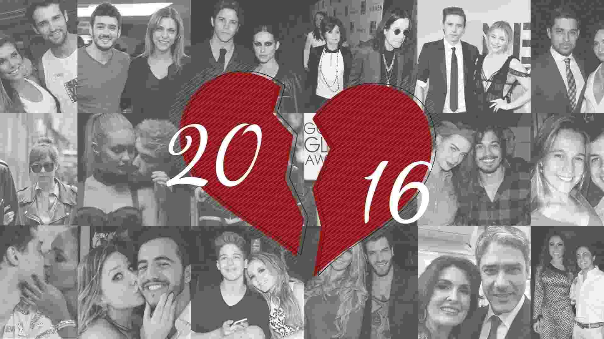 Se você lembra só das separações de Fátima e Bonner e de Angelina e Brad Pitt, veja que 2016 foi um ano desastroso para o casamento das celebridades - ArteUOL