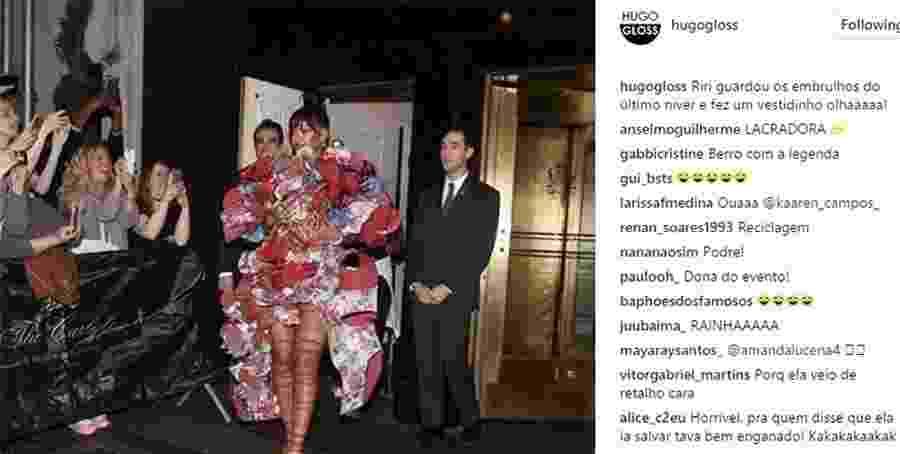 Se não for pra causar, Rihanna nem vai - Reprodução/Instagram