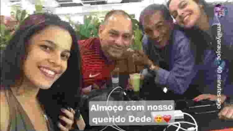 Ex-BBBs Emilly e Mayla almoçam com Dedé Santana - Reprodução/Instagram - Reprodução/Instagram