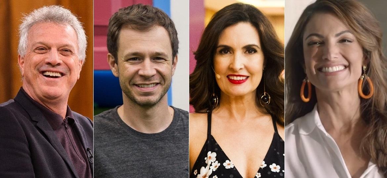 Pedro Bial, Tiago Leifert, Fátima Bernardes e Patricia Poeta são hoje estrelas milionárias da publicidade nacional - Montagem/UOL
