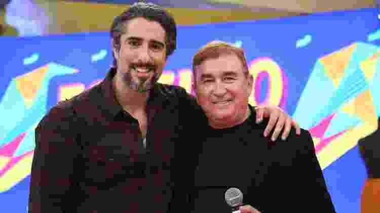 """Nesta sexta-feira, Marcos Mion recebe Amado Batista no """"Legendários"""", na Record - Divulgação - Divulgação"""