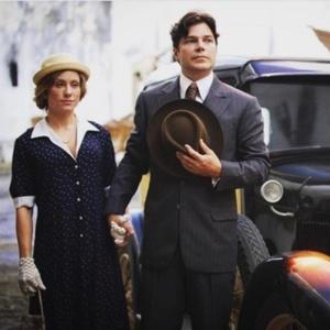 "Erik Marmo e Giselle Prattes nas gravações de ""Tempo de Amar"""
