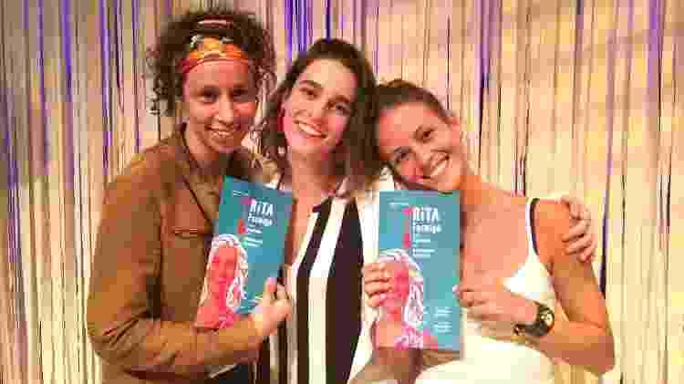 Thalita Carauta e Fernanda de Freitas foram prestigiar a atriz Priscila  - Divulgação - Divulgação