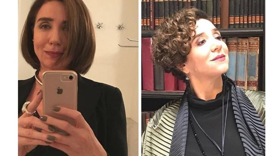 A atriz Marisa Orth antes e depois da nova mudança de visual - Reprodução / Instagram