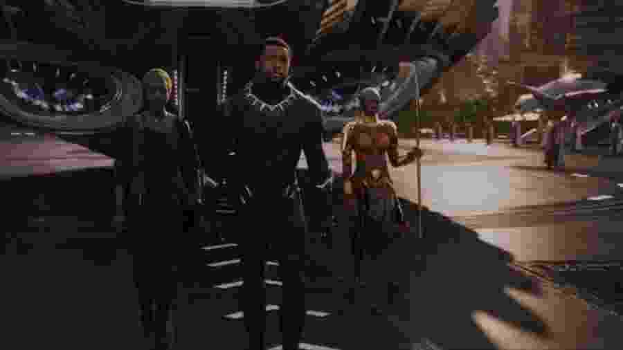 """Cena do trailer de """"Pantera Negra"""" - Reprodução"""