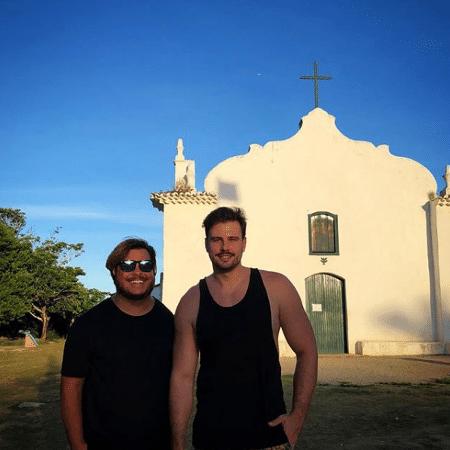 Marcus Majella com o namorado, Anderson Farinelli - Reprodução/Instagram/marcusmajella