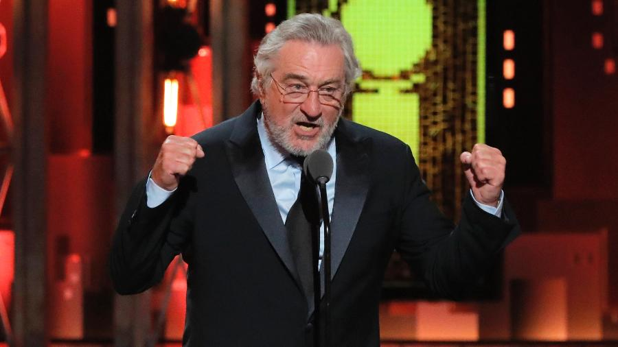 O ator Robert de Niro fala no Tony Awards - Lucas Jackson/Reuters
