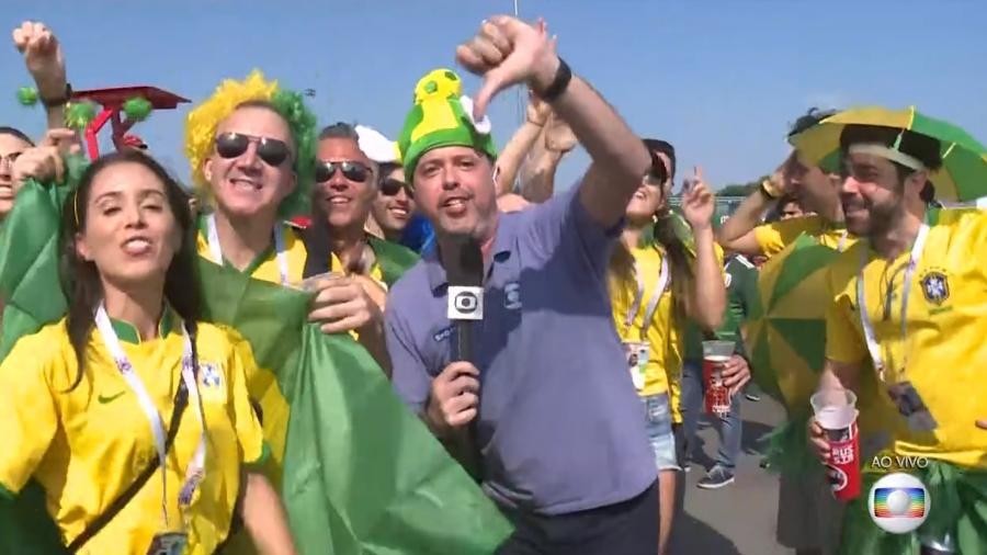 Alex Escobar canta eliminação da Argentina a poucas horas da partida entre Brasil e México na Copa da Rússia - Reprodução/Globo