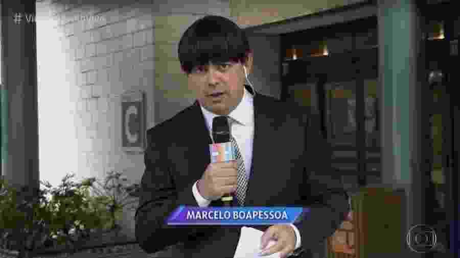 """Carioca como o repórter Marcelo Boapessoa, no """"Vídeo Show"""" - Reprodução / TV Globo"""