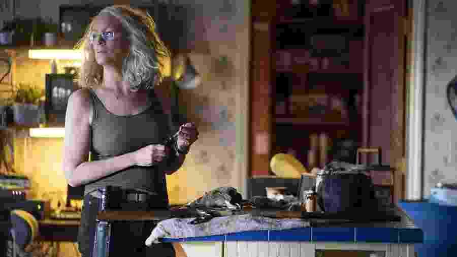 Jamie Lee Curtis no papel de Laurie Strode - Divulgação