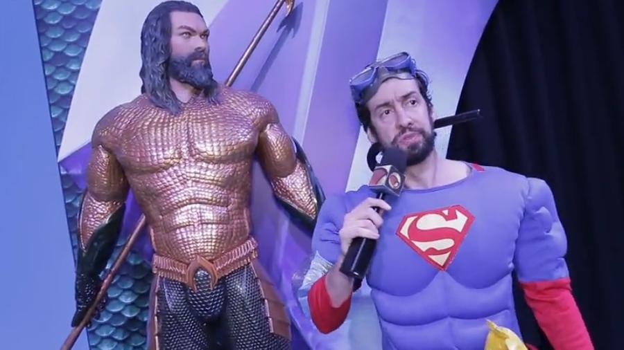 Aquaman e Superman juntos na CCXP - Reprodução