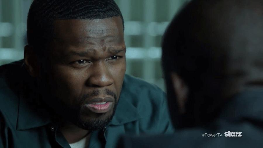 """O rapper 50 Cent em cena da série """"Power"""" - Reprodução"""