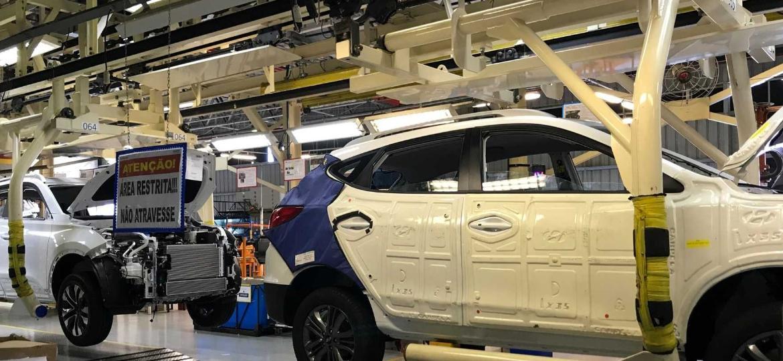 Inaugurada em 2007, com 100% de capital nacional, fábrica da Caoa em Goiás faz produtos da Hyundai e da Chery - Divulgação