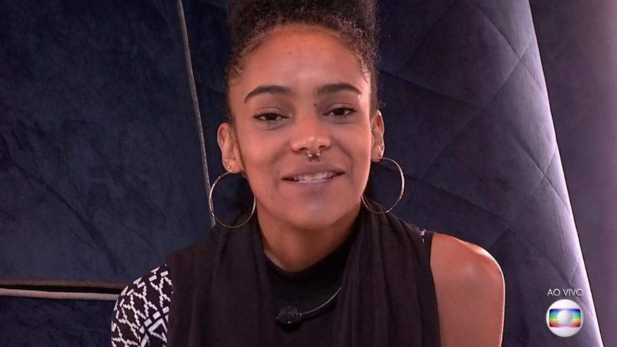 Gabriela conversa com o público no confessionário  - Reprodução/TvGlobo