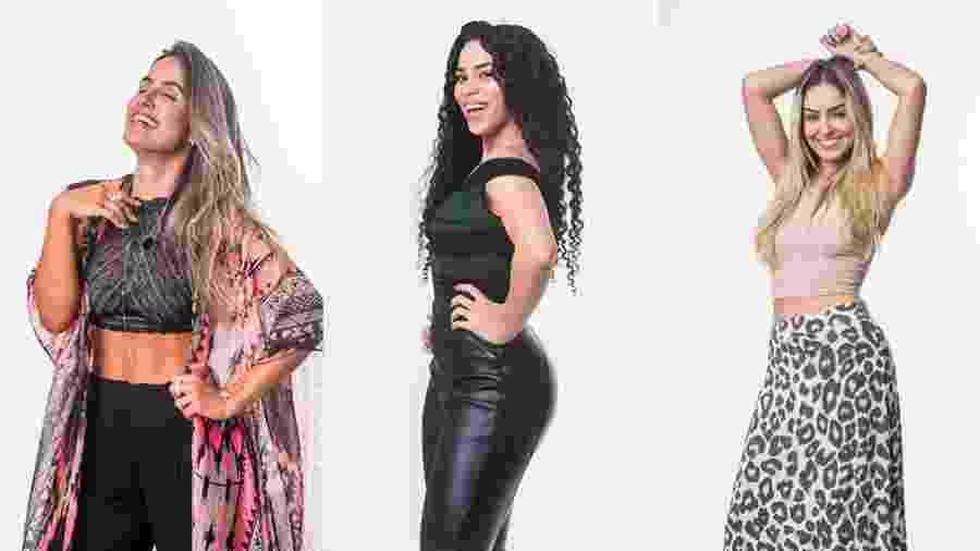 """As três sisters que estão no novo paredão do """"BBB19"""" - Montagem/Globo/Victor Pollak"""