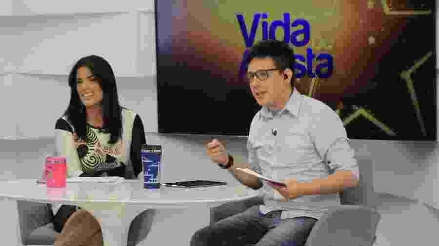 """Mônica Freitas e Erlan Bastos apresentam o """"Vida de Artista"""", na TV Meio Norte, no Piauí - Divulgação/TV Meio Norte"""