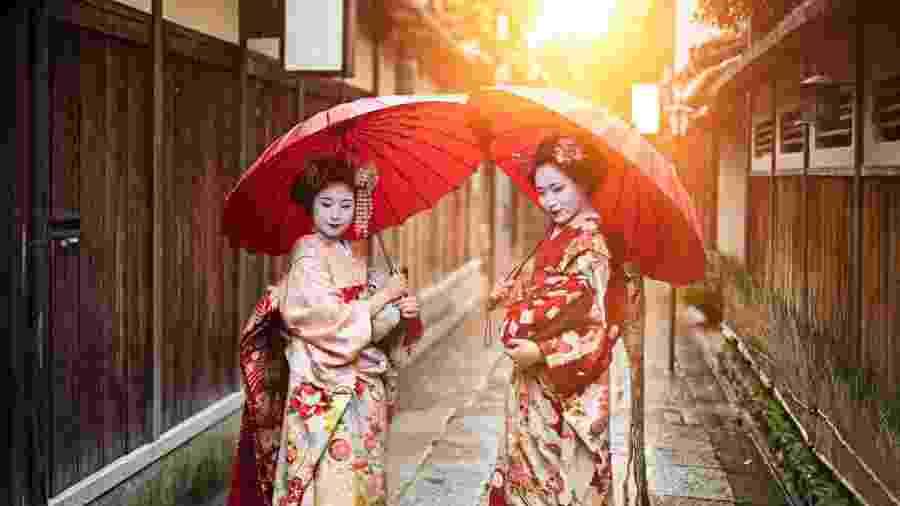 As figuras de gueisha e maiko são parte da herança cultural de Gion, em Quioto - iStock
