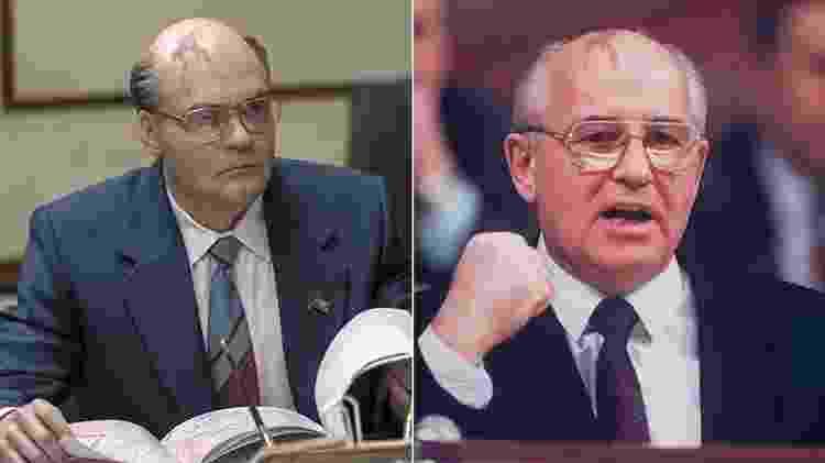 Mikhail Gorbachev em Chernobyl - Arte/UOL Arte/UOL com Getty Images