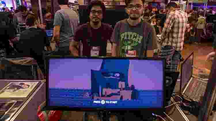 Wictor Cabral e Thiago Cortez vieram de Maceió para expor o jogo Light, Bossa e Chill - André Lucas/UOL