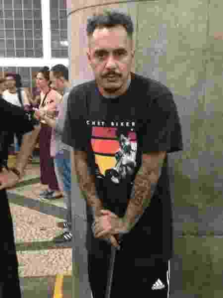 Marcelo D2 em ato a favor do jornalista Glenn Greenwald, - Carolina Farias/UOL