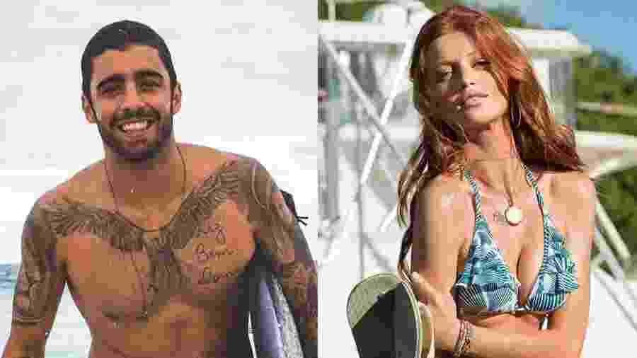 Pedro Scooby e a namorada modelo, Cintia Dicker - Colagem/UOL