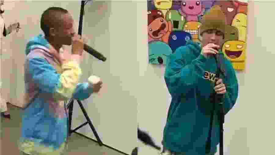 Justin Bieber e Jaden Smith, hoje com 25 e 21 anos, lembraram hit de Karatê Kid - Reprodução/Twitter