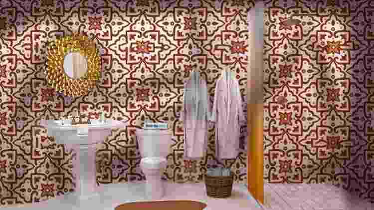 Banheiro da Posada Alebrije Dreamroom  - Divulgação