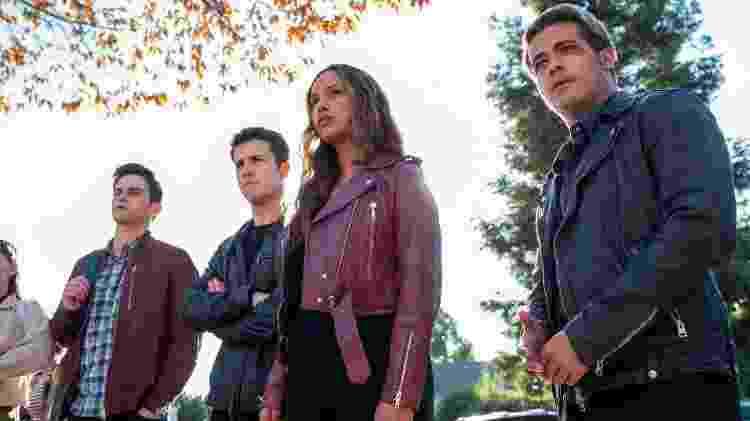 Justin (Brandon Flynn), Clay (Dylan Minnette), Jess (Alisha Boe) e Tony (Christian Navarro) na quarta temporada de '13 Reasons Why' - David Moir/Netflix - David Moir/Netflix