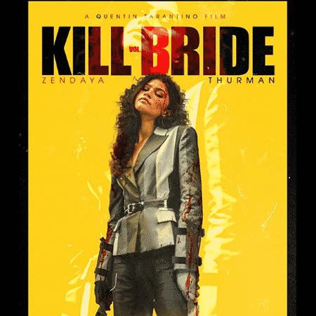"""Pôster de """"Kill Bill"""" com Zendaya criado por fãs - Reprodução / Instgram"""