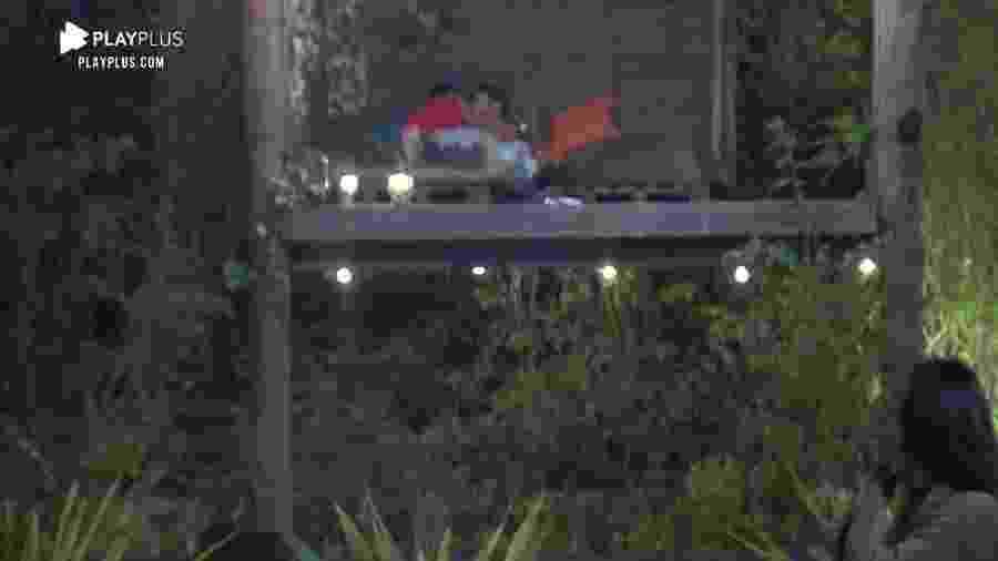 A Fazenda 2020: Jake e Mariano se beijam na casa da árvore - Reprodução/Playplus