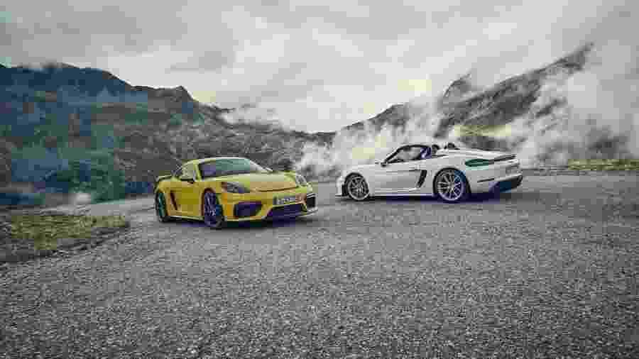 Porsche 718 Cayman GT4 e 718 Spyder  - Divulgação