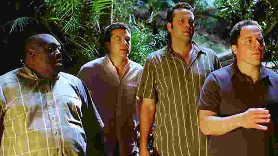 "Faizon Love, Jason Bateman, Vince Vaughn e Jon Favreau em cena de ""Encontro de Casais"" - IMDB"