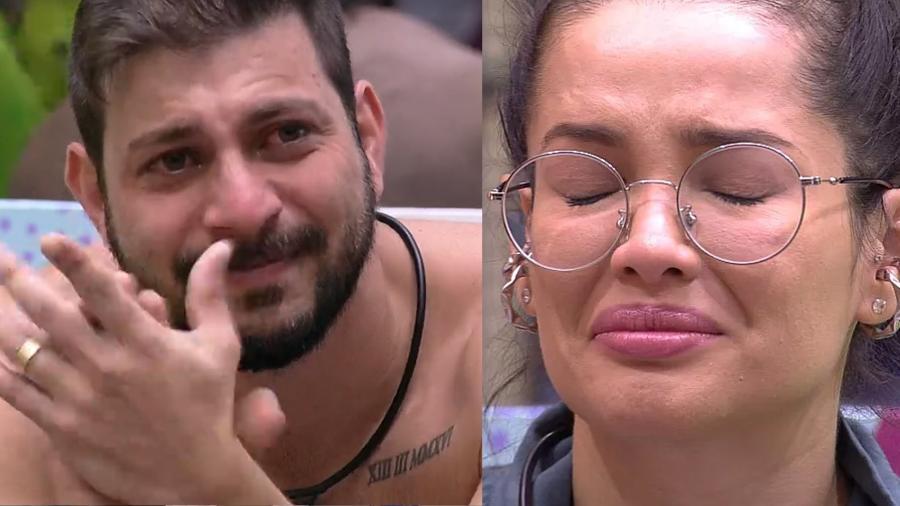 BBB 21: Caio e Juliette se emocionam com o vídeo do anjo - Reprodução/Globoplay