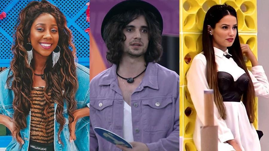 "BBB 21: Camilla, Fiuk e Juliette na final do ""BBB 21"" - Reprodução/Globoplay"