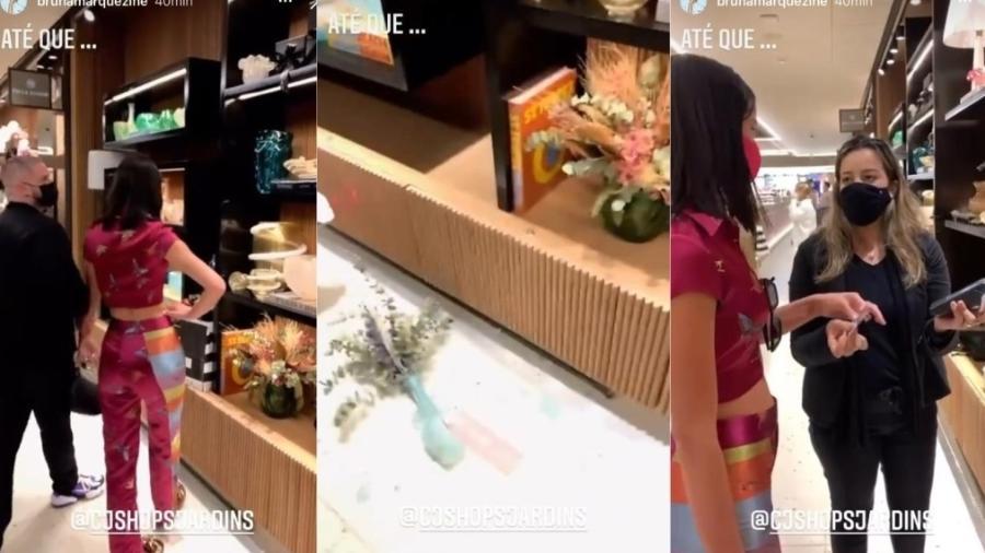Bruna Marquezine quebra vaso de loja - Foto: Reprodução / Instagram