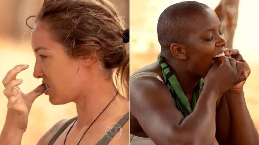 No Limite: Tribo Calango sobre para fazer higiene bucal - Reprodução/TV Globo