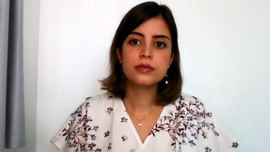 """A deputada Tabata Amaral em entrevista ao programa """"E aí, Beleza?"""" - Reprodução"""