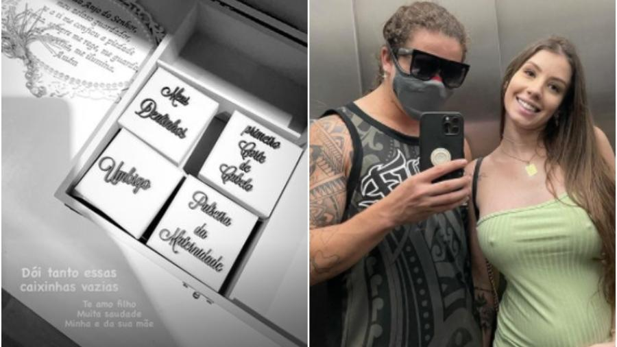 Whindersson Nunes mostra caixinhas de lembrança do filho vazias - Reprodução/Instagram