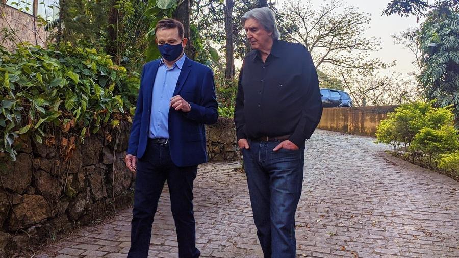 Sérgio Reis fala com Roberto Cabrini sobre as declarações polêmicas vazadas - Divulgação
