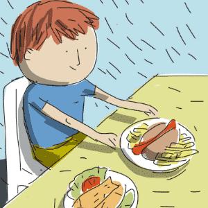 VOCÊ PREFERE COMER PEIXE OU SALSICHA? | Escolher uma alimentação saudável para os filhos é uma tarefa que cabe aos pais, que também devem fixar os horários das refeições - Jeff/UOL