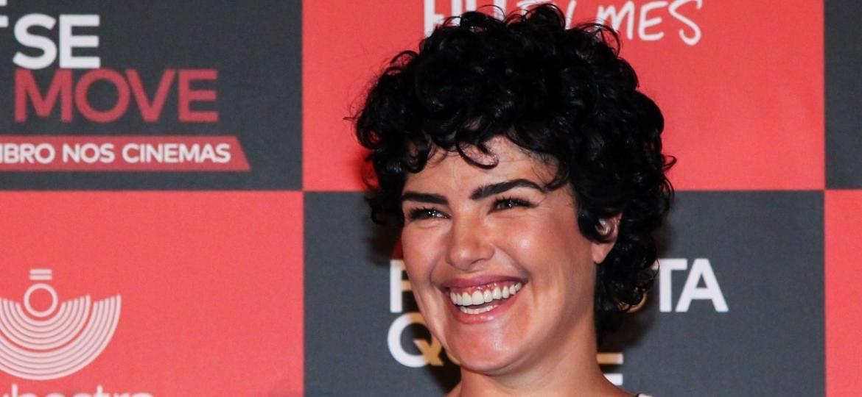 """Ana Paula Arósio durante o lançamento do longa-metragem """"A Floresta que se Move"""", em outubro de 2015 - Manuela Scarpa/Photo Rio News"""