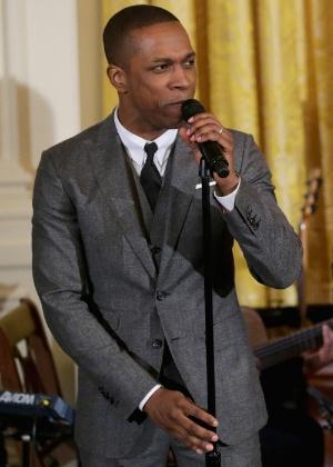 """O ator Leslie Odom Jr., uma das estrelas de """"Hamilton"""", se apresenta na Casa Branca - Chip Somodevilla/Getty Images"""